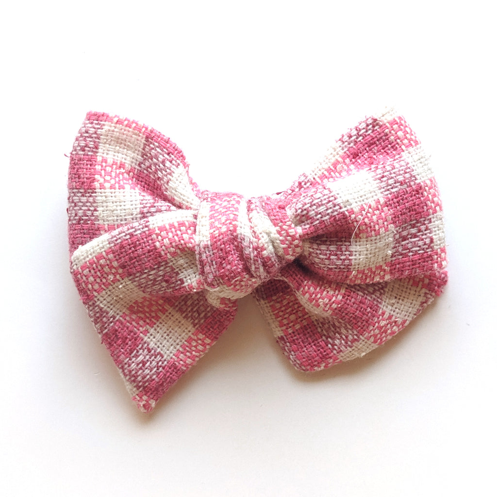 Pink Gingham :: Voyager Bow