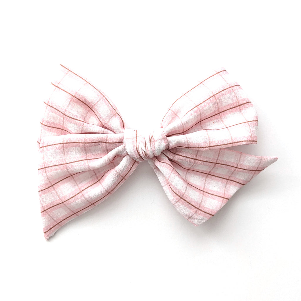 Pink Plaid :: Voyager Bow