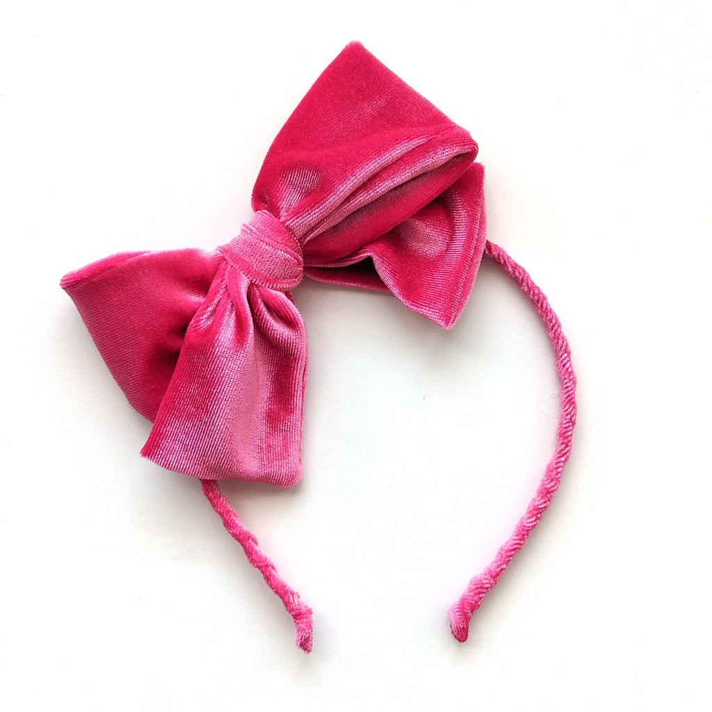 Pink Velvet :: Big Girl Headband