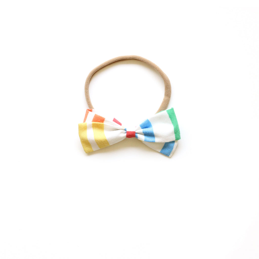 Primary Stripe :: Mini Zoey Bow