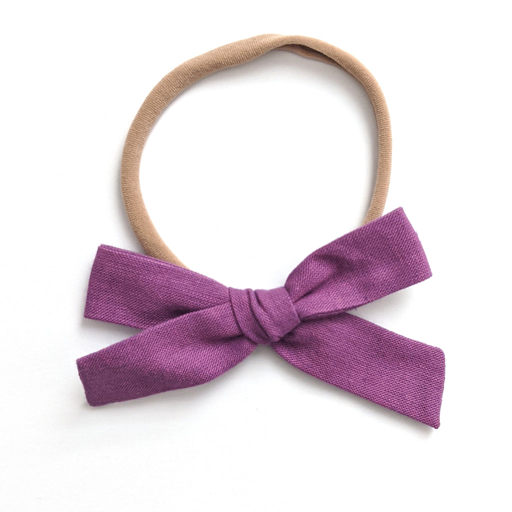 Purple Linen :: Explorer Bow