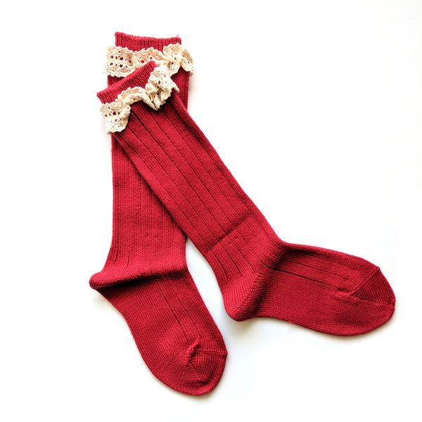 Ruby :: Vintage Lace :: Condor Knee Socks
