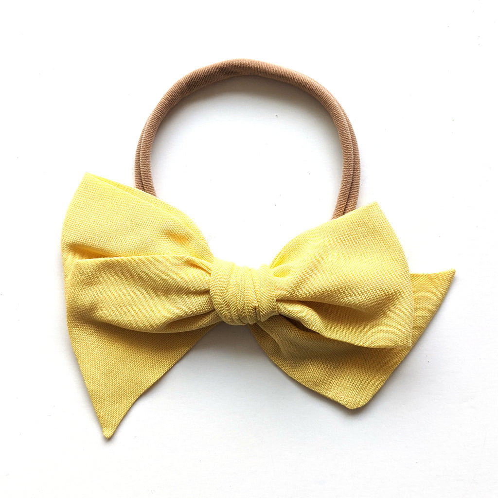 Soft Yellow Rayon :: Voyager Bow