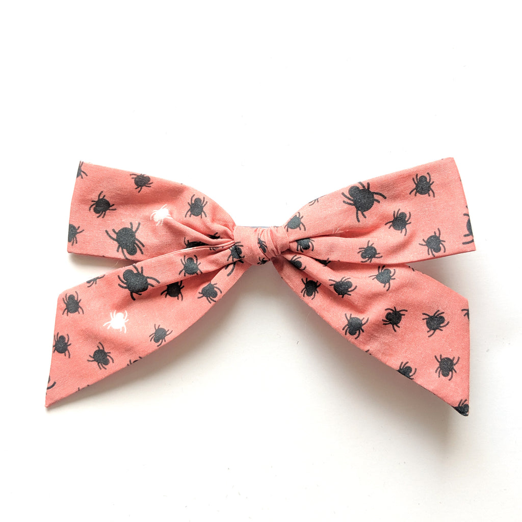 Spidey in Peach :: Oversized Explorer Bow