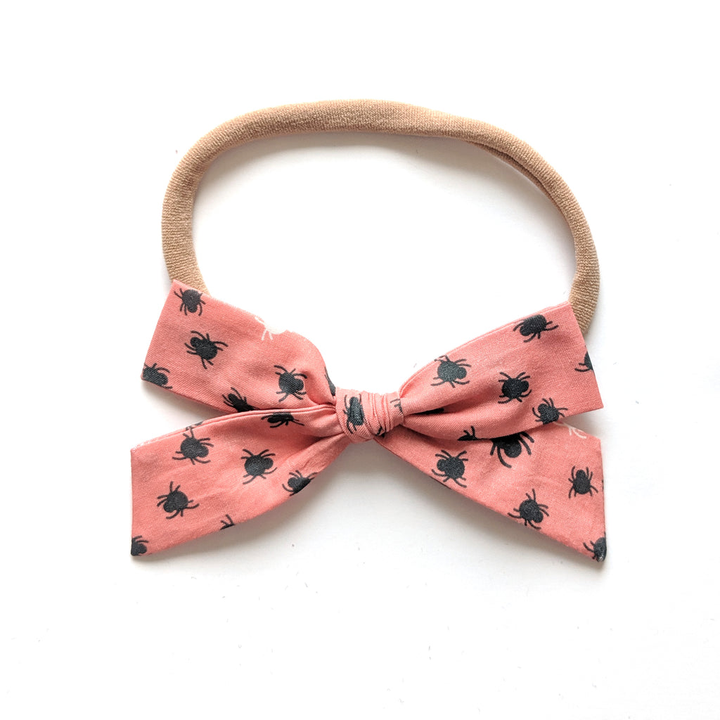 Spidey in Peach :: Explorer Bow