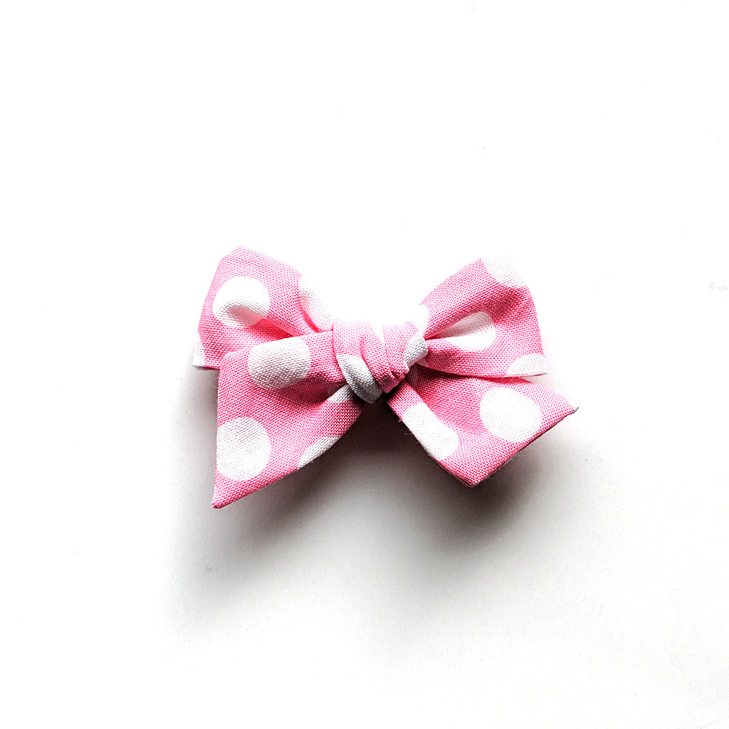Spot on Pink :: Mini Voyager Bow