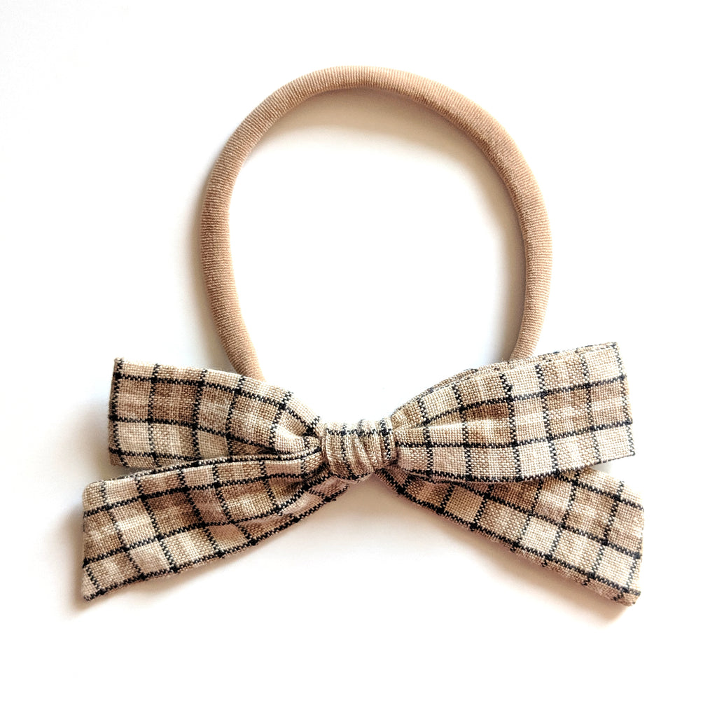 Tan Plaid :: Explorer Bow