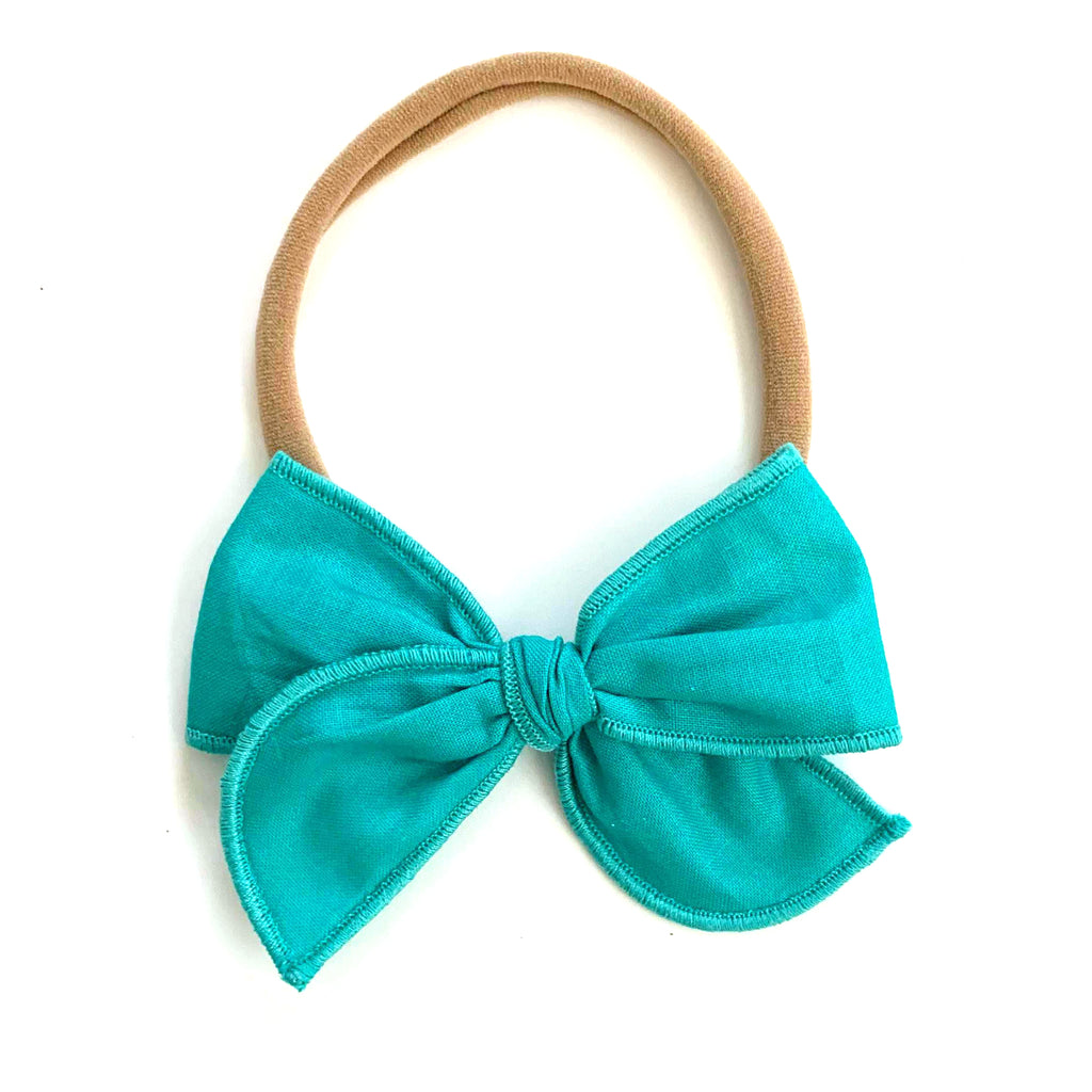Teal :: Mini Wayfarer Bow