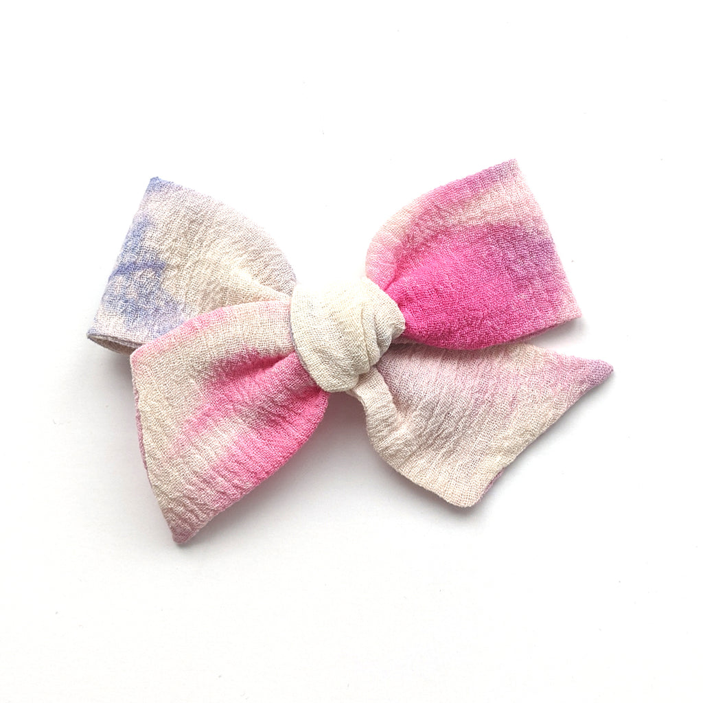 Pink and Purple Tie Dye  :: Voyager Bow
