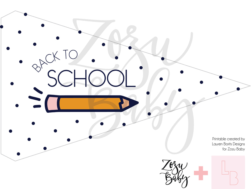Back to School Flag :: Printable