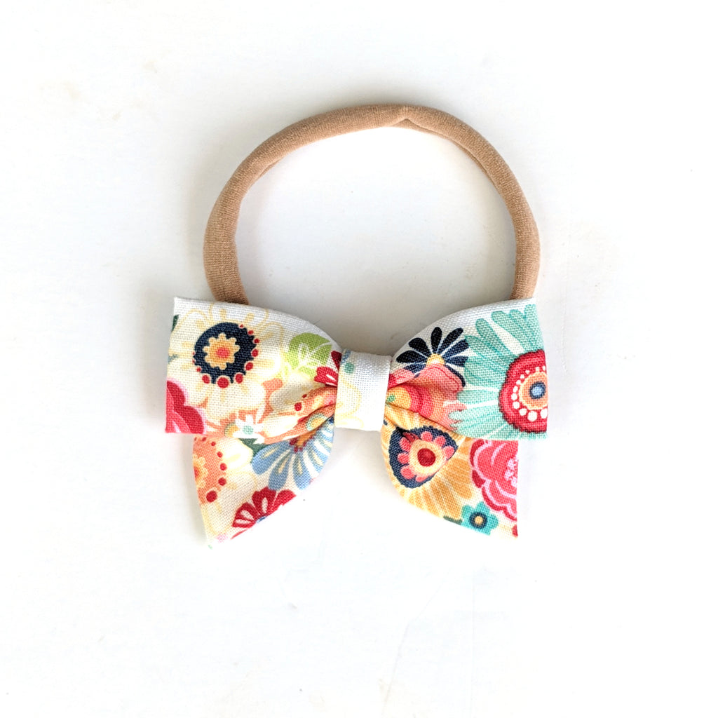 Sweet Floral :: Mini Pioneer Bow