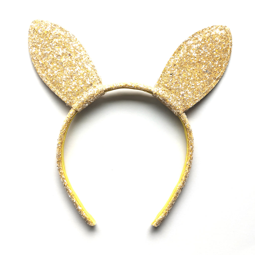 Bunny Ears :: Canary Glitter :: Big Girl Headband