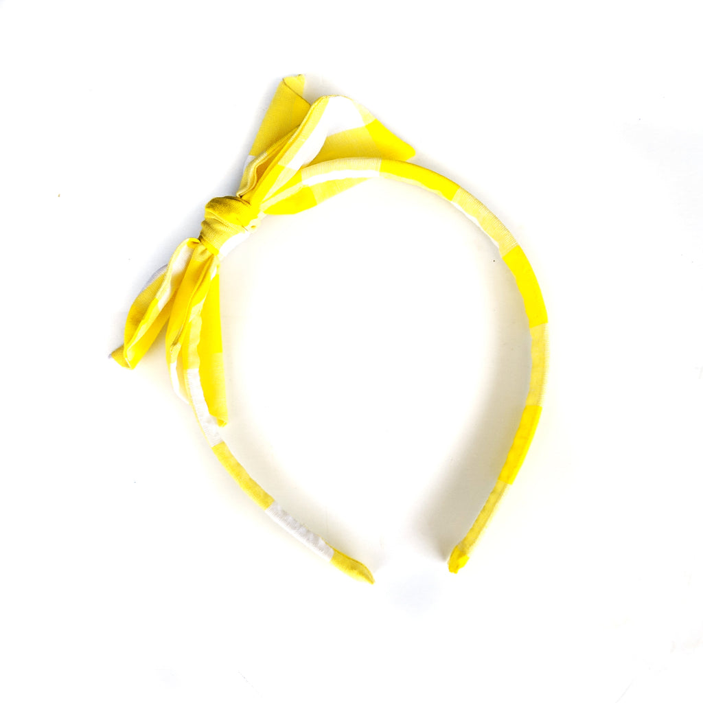 Yellow Check :: Big Girl Headband