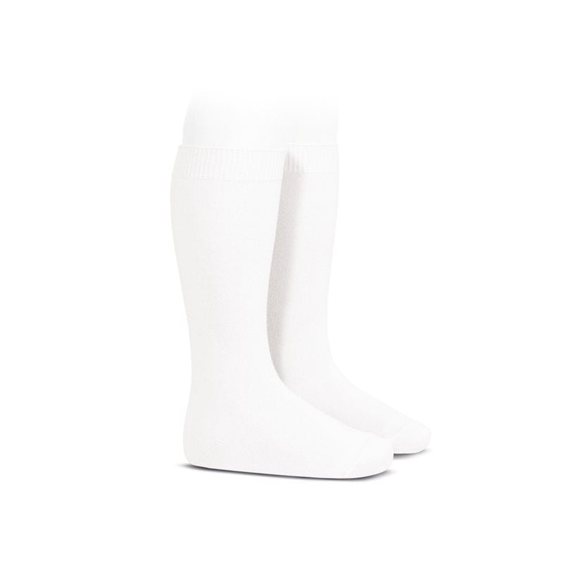 White :: Condor Knee Socks