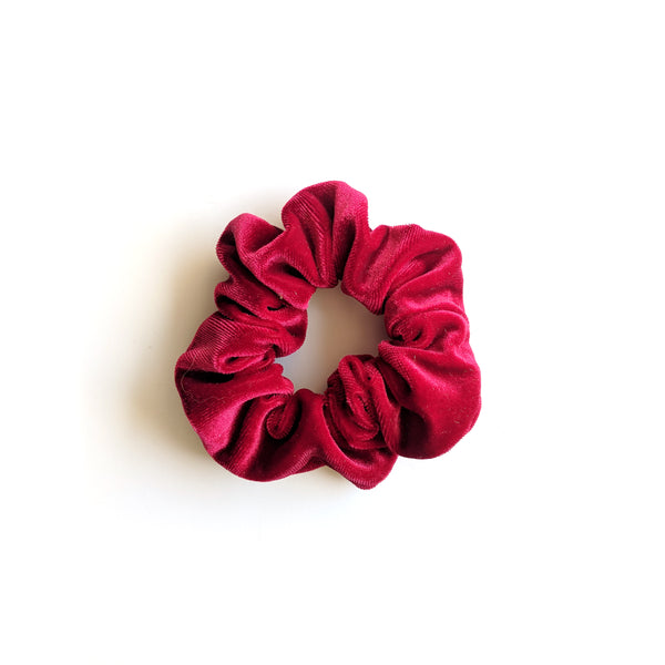 Cranberry :: Velvet Scrunchie