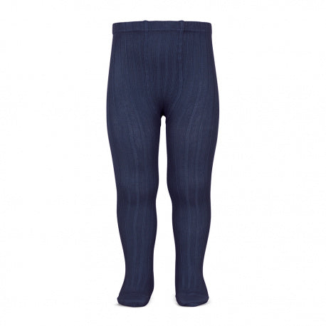 Navy :: Ribbed :: Condor Tights