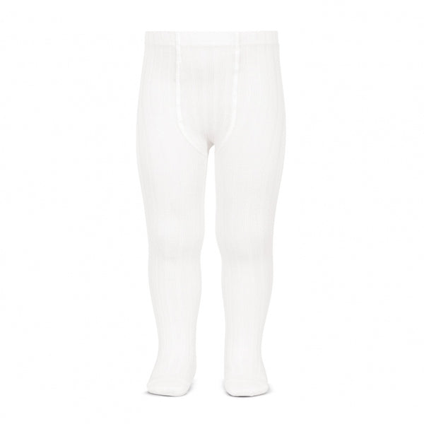 White :: Ribbed :: Condor Tights