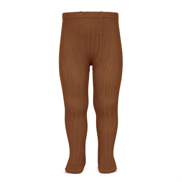 Rust :: Ribbed :: Condor Tights
