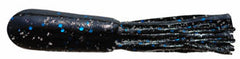 "2.75"" Bass & Walleye Teasers - 12 Pack - Black Blue Neon"