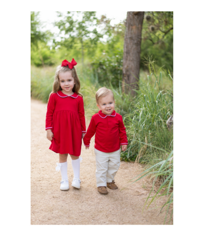 Bambinos Trinity Twirl Dress - LS Red