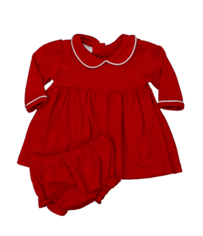 Trinity Twirl Dress - LS Red