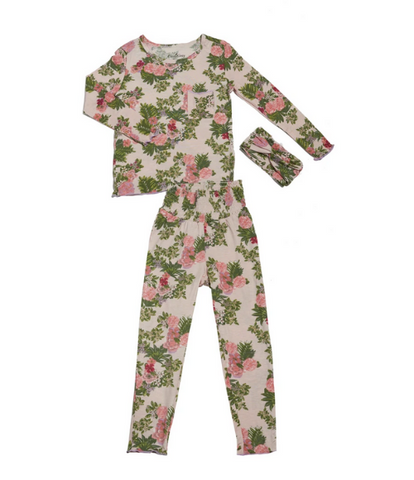 Bamboo Beige Floral PJ's