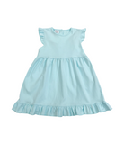 Bambinos Riviera Ruffle Dress - Aqua