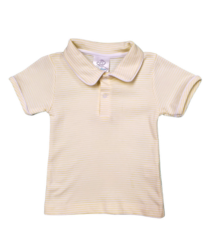 Bambinos Pinehurst Polo- Yellow Stripe