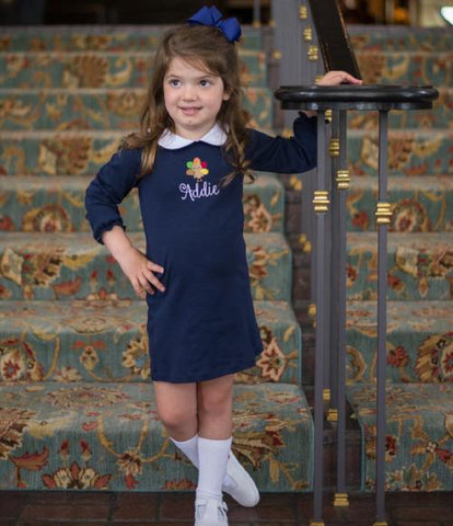 Bambinos Paris Play Dress - LS Navy