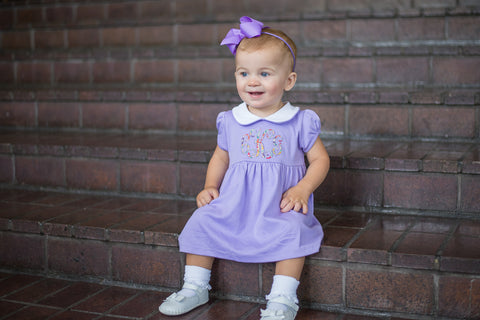 Bambinos Trinity Twirl Dress Set - Lilac