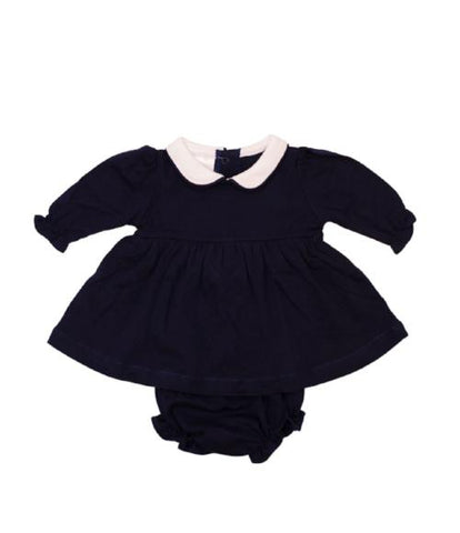 Bambinos Trinity Twirl Dress Set - LS Navy