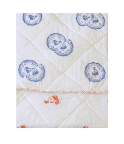 Kantik Crib/Toddler Sheet - Orange Koi Fish