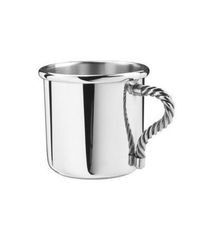 Pewter Baby Cup - Rope Handle