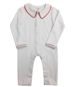 Bambinos Parker Playsuit - White/Red