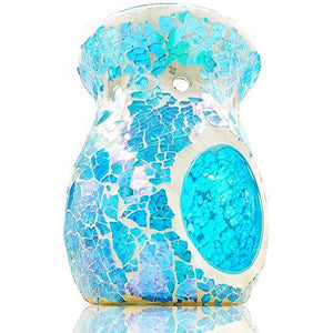 Aqua Blue Mosaic Scented Melt Burner  Aroma Addiction