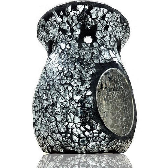 Black and Silver Mosaic Scented Melt Burner