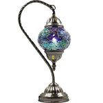 Turkish Mosaic Lamp - Swan Neck - Blue Moon