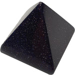 Blue Sandstone Crystal Pyramid