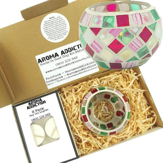 Candy Mosaic Tea Light Holder Pack  Aroma Addiction