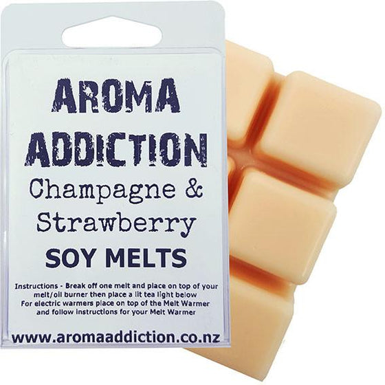 Champagne and Strawberry Soy Melt Pack **BEST Seller** Scented melts Aroma Addiction