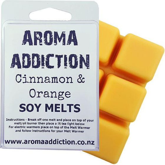 Cinnamon & Orange Soy Melt Pack Scented melts Aroma Addiction