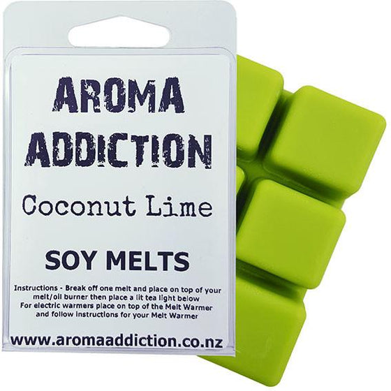 Coconut Lime Soy Melt Pack Scented melts Aroma Addiction