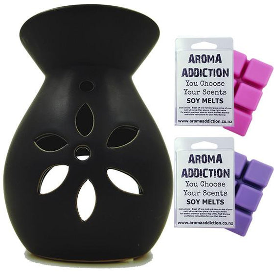Floral - Black Melt Burner Melt Pack Combo - melt burners - Aroma Addiction- - 1