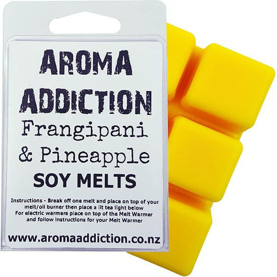 Frangipani and Pineapple Scented Soy Melt Pack Scented melts Aroma Addiction