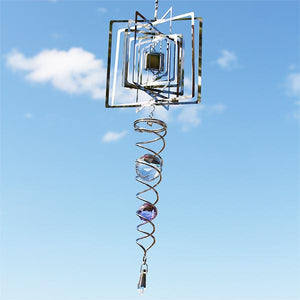 Hanging Sun Reflector Dimensional Box with Crystals