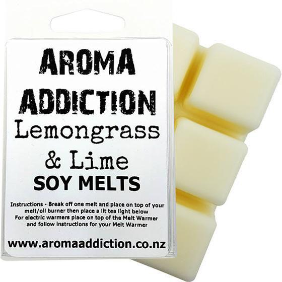 Lemongrass and Lime Scented Soy Melt Pack