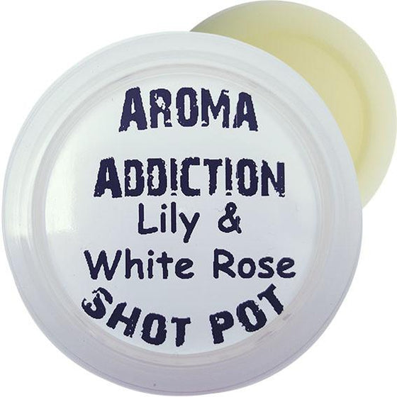Lily & White Rose Soy Shot Pot Scented melts Aroma Addiction