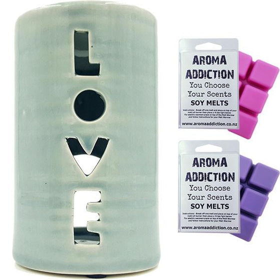 Love Melt Burner Melt Pack Combo melt burners Aroma Addiction