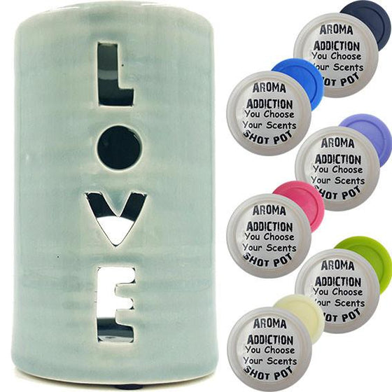 Love Melt Burner Shot Pot Combo melt burners Aroma Addiction
