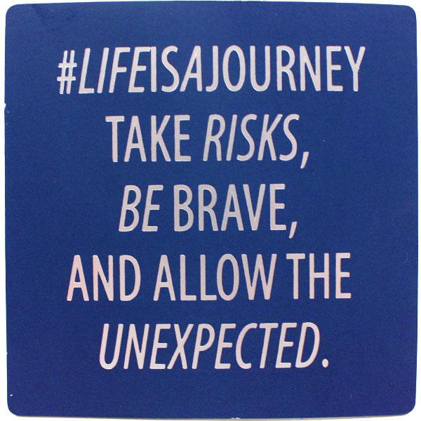 #lifeisajourney Inspirational Fridge Magnet gift Aroma Addiction